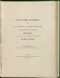 West India Scenery In The Island Of Trinidad -Title Page